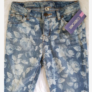 Cherokee Floral Jeans NWT!  Girls 12